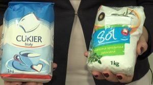 smaczny t sól i cukier